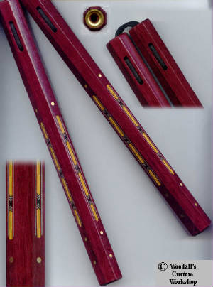 Kanji_Inlay_etc/Purpleheart_Nunchaku_12_inch_OCTNT_boxwood_inlay.jpg